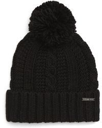 4e634dee165 MICHAEL Michael Kors - Cable Knit Hat - - Lyst