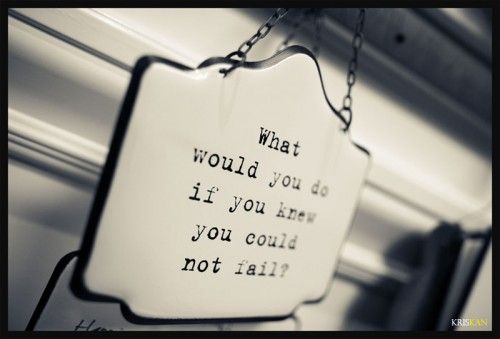 What would you do if you knew you could not fail?