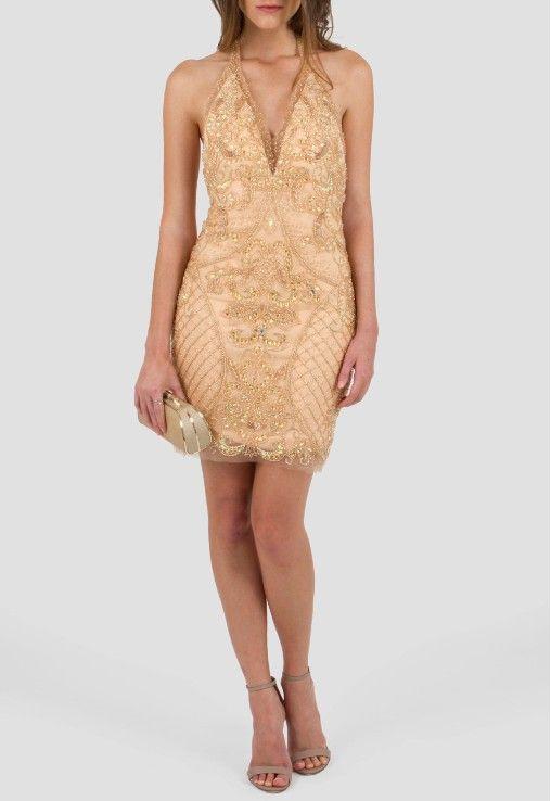 POWERLOOK - Aluguel de Vestidos Online –Vestido Salma curto bordado com decote profundo nas costas Powerlook - nude #alugueldevestidos #powerlook #vestidomadrinha #madrinha #vestidocasamento #casamento #vestidofesta #festa #lookcasamento #lookmadrinha #lookfesta #party #glamour #euvoudepowerlook  #dress #dreams   #arrase #alugue  #devolva #modaconsciente  #beauty #beautiful #salma #curto #bordado #nude #decoteprofundo #decote costas #nude #powerlook