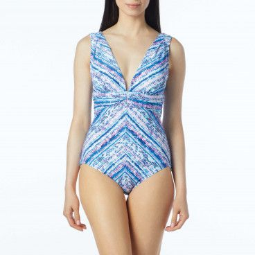 c78ead1dd100b Contours by Coco Reef Emerald Cut Underwire One Piece Swimsuit - Beaded  Cobra