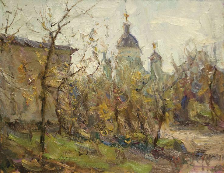 "Malanenkov Yuriy ""Taganka"" Oil on carton 31х40 cm 2014."