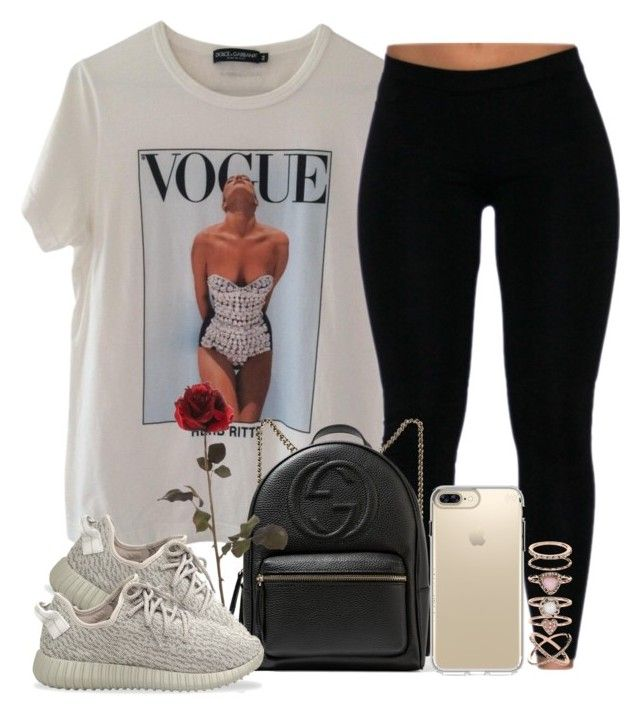 """VOGUE."" by pinkliquor-xo ❤ liked on Polyvore featuring Dolce&Gabbana, Gucci, Speck, Accessorize and adidas Originals"