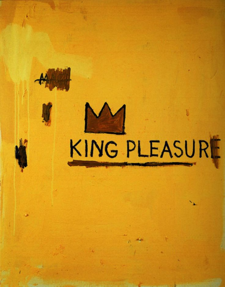 Basquiat, Jean-Michel. King Pleasure. 1987.