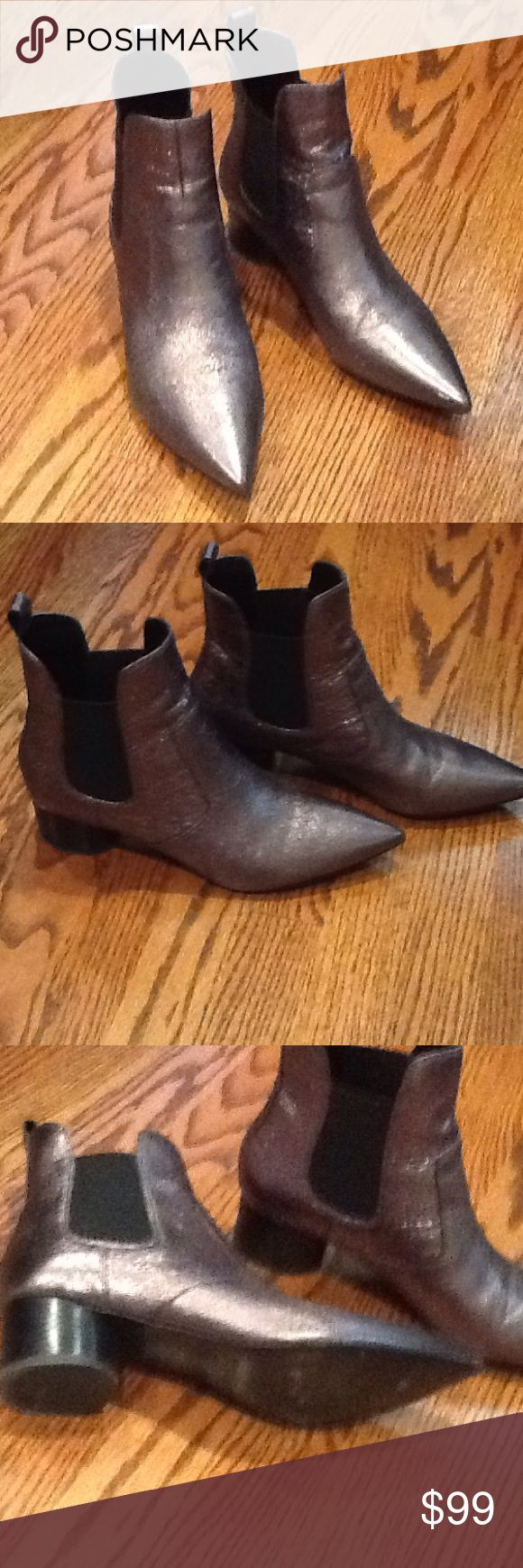 Kendall and Kylie Kendall and Kylie boot. Metallic  vegan leather. Beautiful fit and look. Excellent Kendall & Kylie Shoes Ankle Boots & Booties