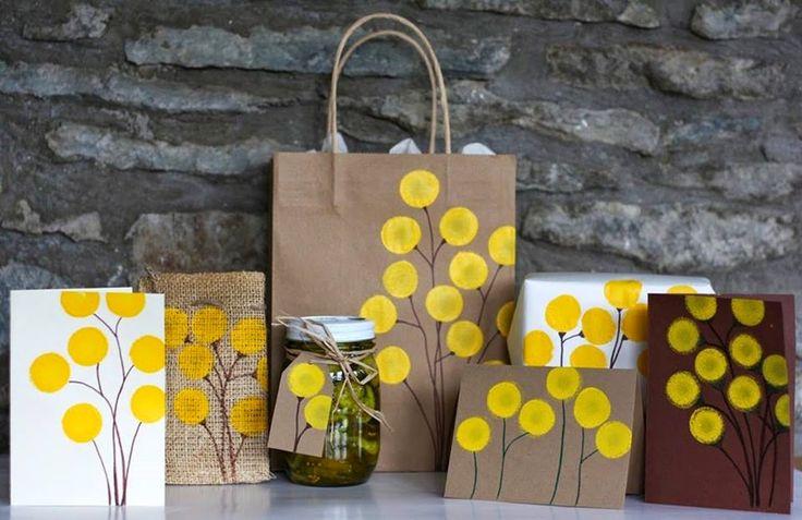 MENTŐÖTLET - kreáció, újrahasznosítás: Szivaccsal festett virág