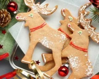 """Biscuits épicés """"rennes de Noël"""" cannelle-muscade-gingembre : http://www.fourchette-et-bikini.fr/recettes/recettes-minceur/biscuits-epices-rennes-de-noel-cannelle-muscade-gingembre.html"""