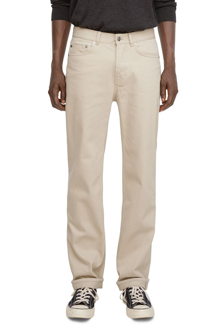 Straight 5-Pocket Trousers - Beige - Trousers - ARKET SE