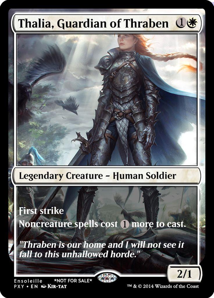 Magic the Gathering - Thalia, Guardian of Thraben by ASliceOfUnagi on DeviantArt