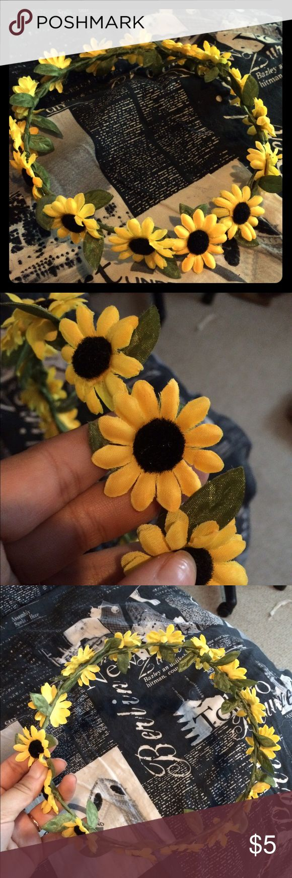 Sunflower headband Sunflower headband great for festivals WILL BUNDLE Accessories Hair Accessories