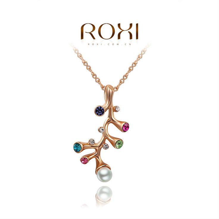 Luxe Ketting met Boom Hanger met Gekleurde Kristallen