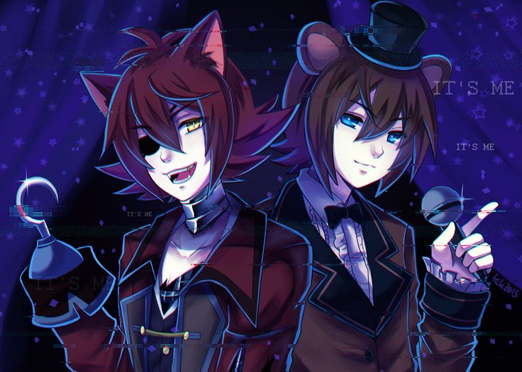 Tags: Fanart, Pixiv, Mikuhoshi, PNG Conversion, Fanart From Pixiv, Tumblr, Five Nights at Freddy's, Foxy (Five Nights at Freddy's), Freddy Fazbear (Five Nights at Freddy's)