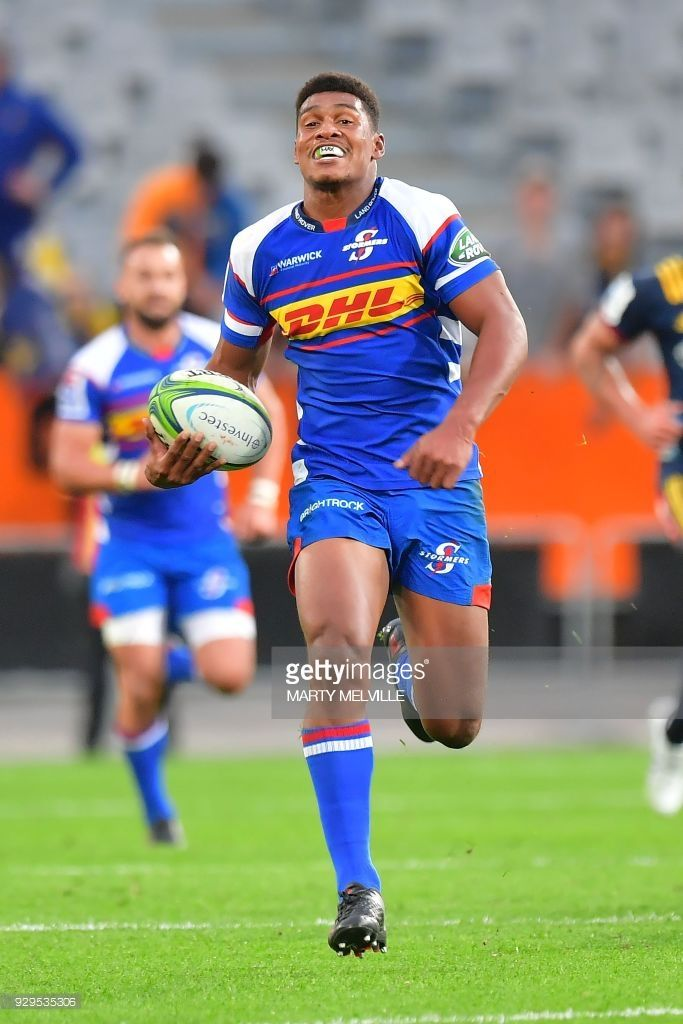 Stormers Damian Willemse Scores A Try During The Super Rugby Match