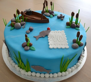 Fishing themed cake