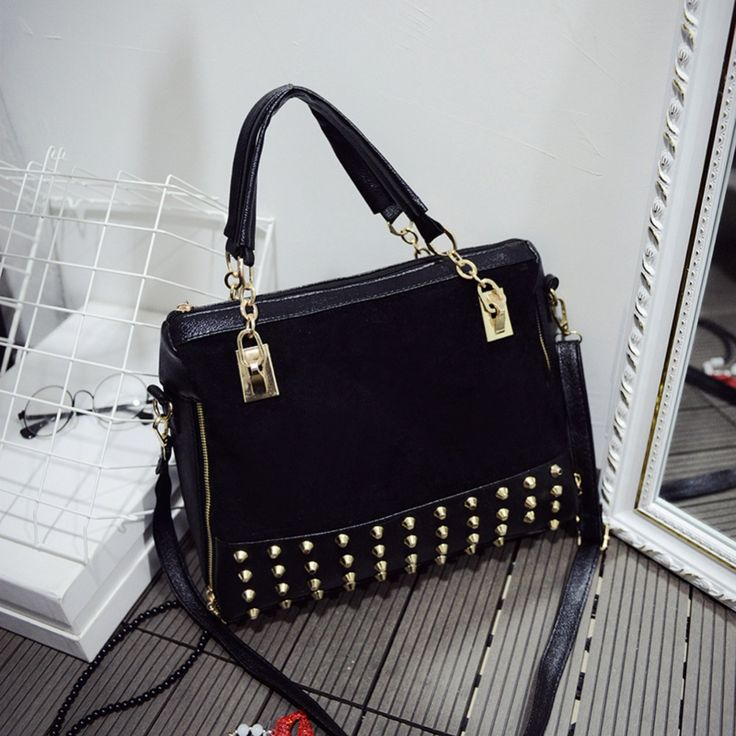 2016 Fashion Women Handbags Nubuck Leather Brand Rivet Bag Lady Hand Bag Women Messenger Bag Female Crossbody Shoulder bag Bolsa #>=#>=#>=#>=#> Click on the pin to check out discount price, color, size, shipping, etc. Save and like it!