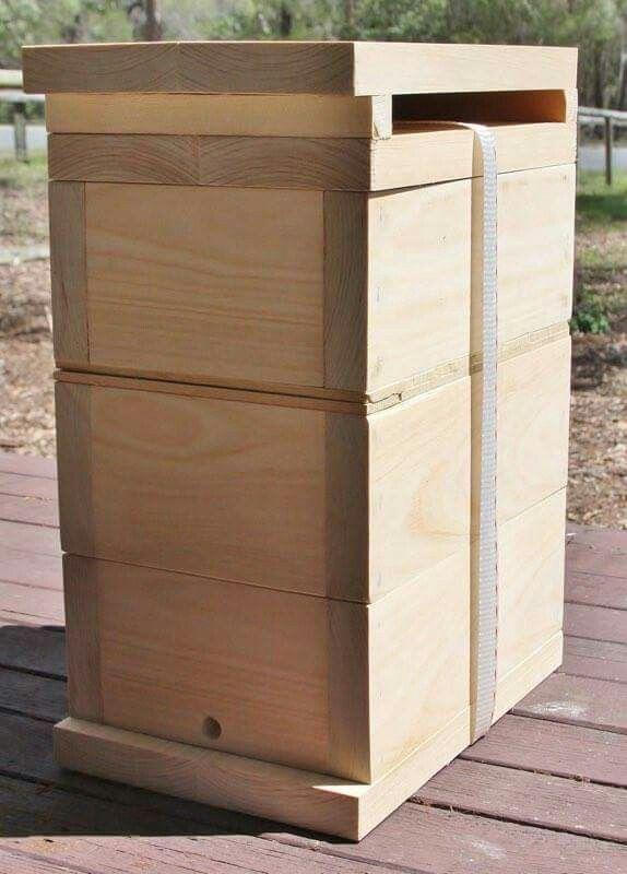 Native Bee Hive Hoop Pine with Honey Super