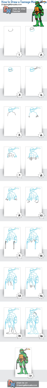 how to draw michelangelo ninja turtle