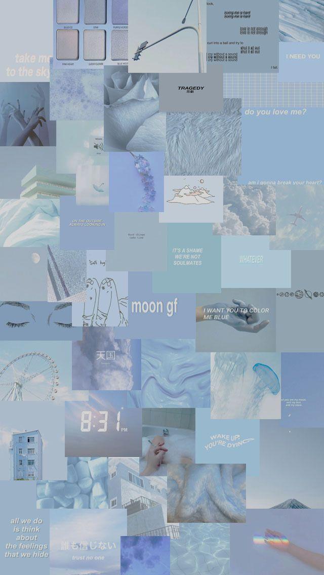 Uwu Blue Aesthetic Pastel Wallpaper Pastel Wallpaper Aesthetic