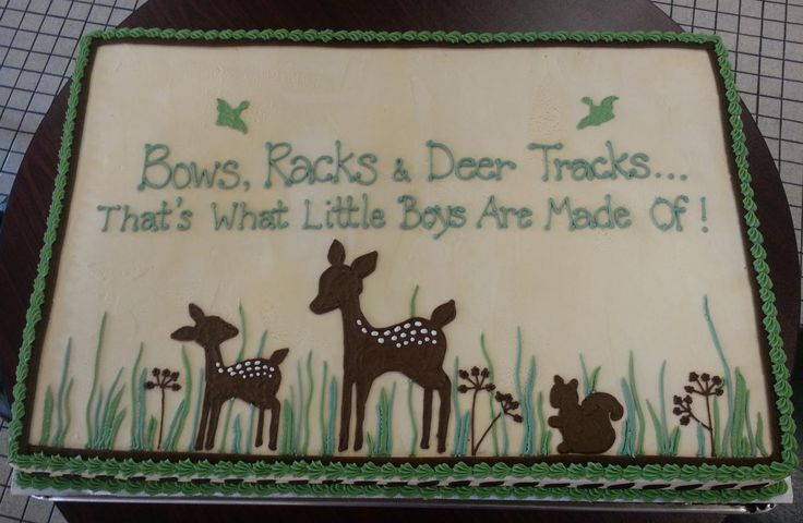 baby shower cake with deer - Google Search