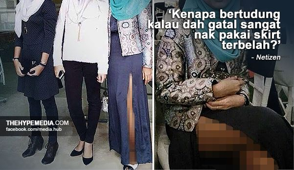 Gadis bertudung dedah paha berkerak dikecam netizen