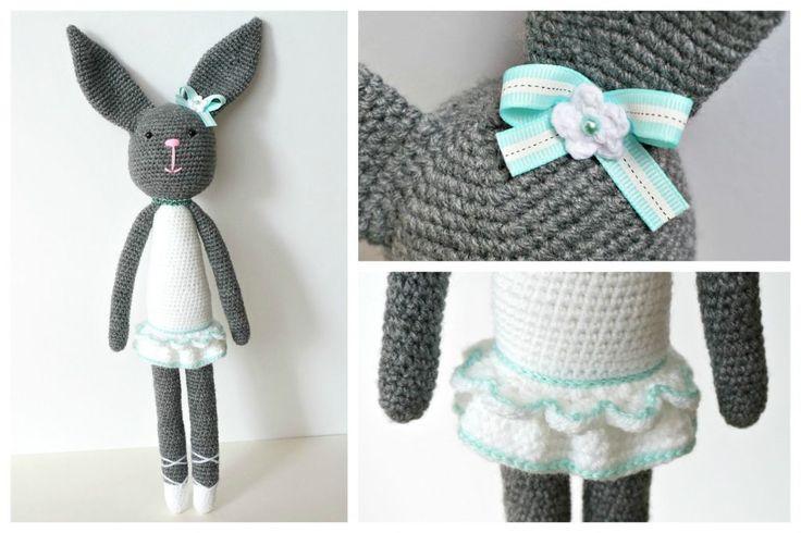 Crochet Bunny Ballerina - Werka tu i tam