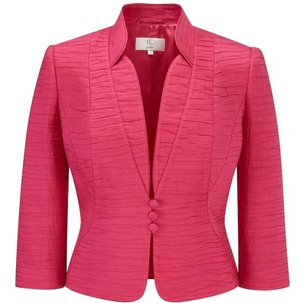 CC Petite bright pink seam detail jacket ($240) ❤ liked on Polyvore