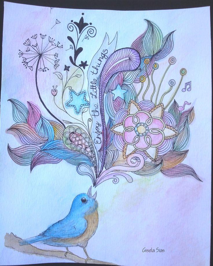 Enjoy the little things Disfruta de las pequeñas cosas  #dibujo #draw #sketch #ilustración #quote #frase