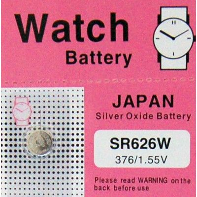 Check out our Silver Oxide SR Range SR626W at http://watch-batteries-australia.com.au/index.php/sr626w.html  Enjoy a flat rate shipping of only AUD$1.50 on all orders!!!