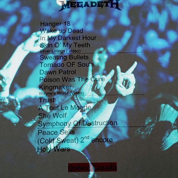 Megadeth, Festival d'été de Québec, 18 juillet 2015, scène Bell des plaines d'Abraham.