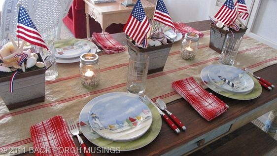 American summertime tableMountain Lakes, American Summertime, Americana Dreams, Summertime Tables, Patriots Tables, July Tables, 4Th Of July, July 4Th, Americana Tables