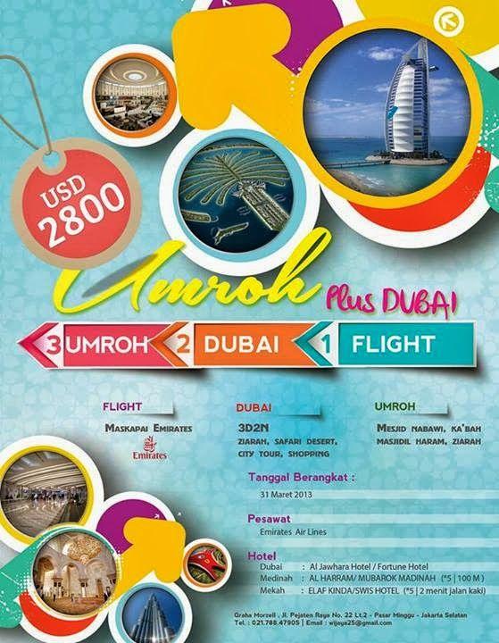 Paket Umroh Plus Dubai memiliki nilai tambah tersendiri. Tanpa mengurangi makna umroh reguler atau umroh plus lainnya, paket ini memang memiliki kelebihan. Apa saja kelebihannya? Sebelum melaksanakan ibadah umroh, anda akan diajak menikmati keindahan dan kemegahan kota Dubai yang sekarang menjadi salah satu kota tujuan wisata dunia.
