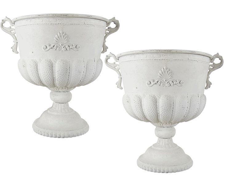 Kruka VIT Stor Pokal 49 cm 2-set