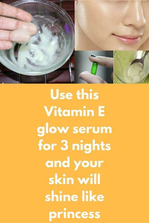 Use this Vitamin E glow serum for 3 nights and your skin will shine like princess We all know benefits of vitamin E oil for skin and hair. If you go to market many vitamin E night creams are available but they are very expensive. Today I will tell you how http://beautifulclearskin.net/