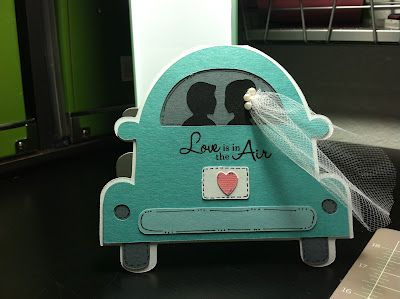 Wedding getaway car card - bjl