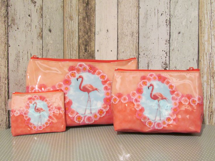 Toilettassen Flamingo