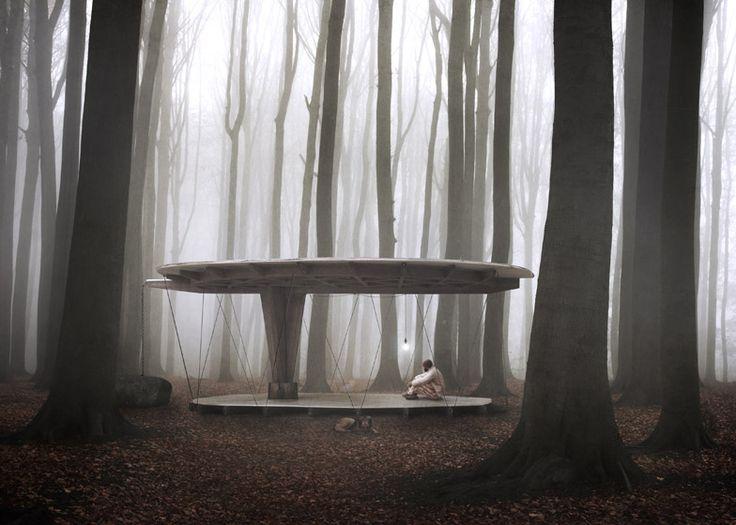Jägnefält Milton's Forest Pavilion tests Swedish building law