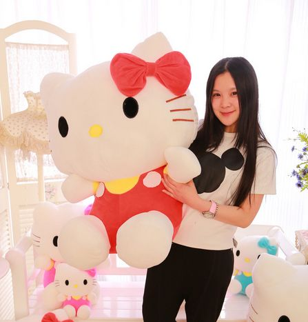 Item Specifics: - Size: 60cm - Color: red, blue, pink - Material: TOP Plush Cotton - Packing: 1 Big Hello Kitty Doll - Weight/lot: 1.55kg - Shipping: FREE - Worldwide!