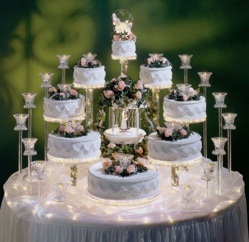 Multi-tiered wedding cake Food & Drink Pinterest ...