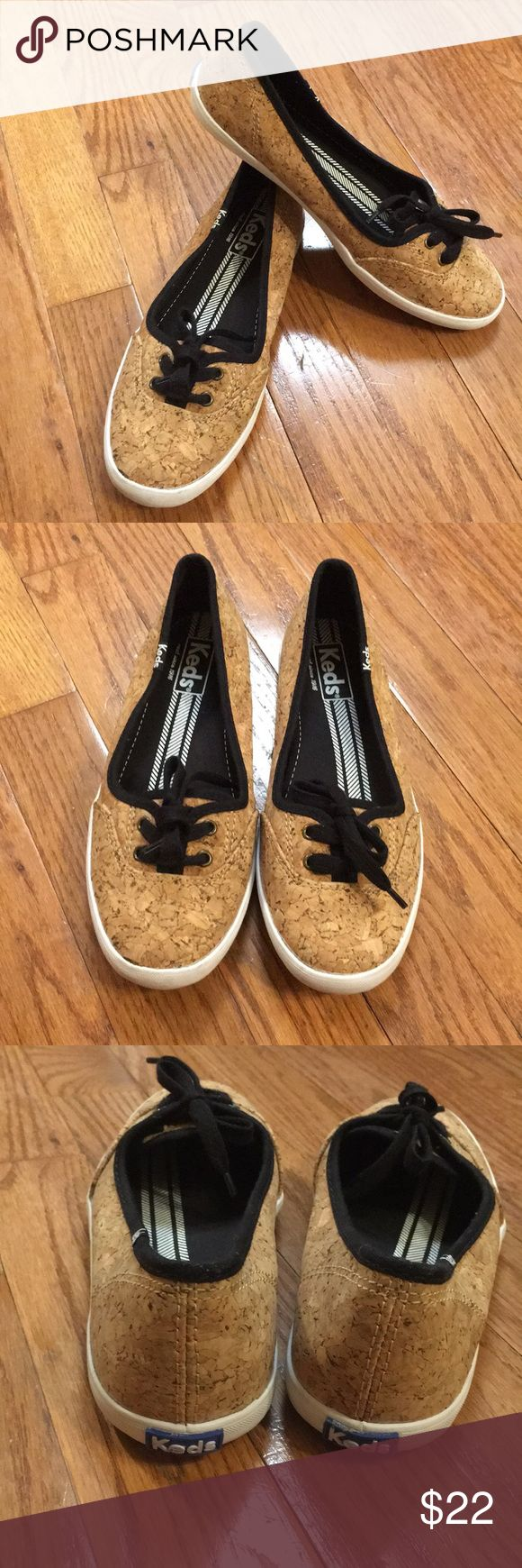 Keds Teacup Cork Sneakers EUC, these are not your run of the mill Keds. An eye-catching cork finish adds an earthy twist to the slim, graceful profile of a favorite Keds slip-on. Keds Shoes Sneakers