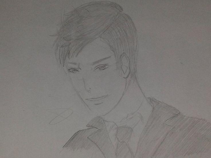 Non sapevo cosa fara così ho provato a disegnare il decimo dottore.