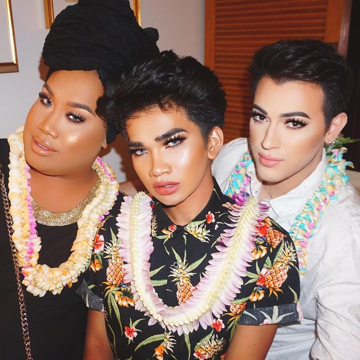 "Bretman Rock on Instagram: ""My Birth Mothers @mannymua733 @patrickstarrr #trippinwithtarte #holytrinity"""