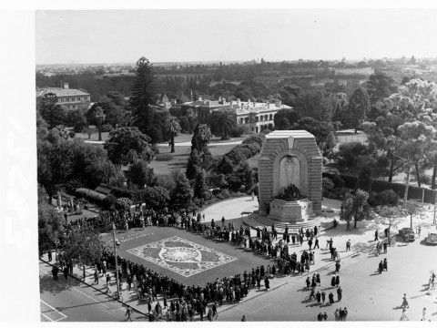 National Flower Day photographic collection | History SA. Adelaide War memorial, North tce.