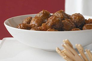 Doctor up frozen meatballs with this tangy sauce and get an impressive appetizer in minutes.