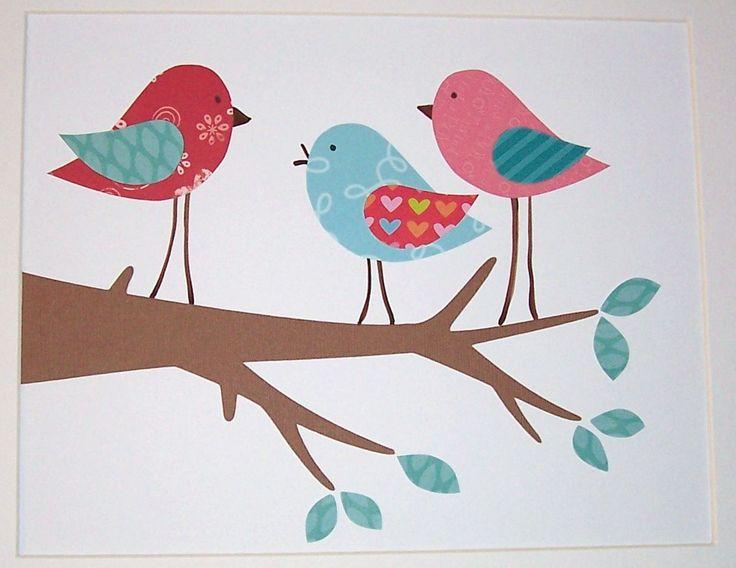 Nursery Art Kids Wall Art Children39s Room Decor Birds