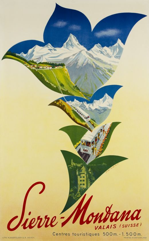 Sierre-Montana Valais Suisse by Peikert Martin / 1950