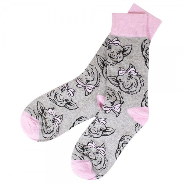 """Simply Southern /""""Pig Bow/"""" Socks"""