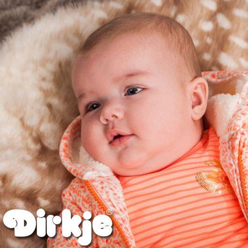 Jouw meisje zit er warm bij deze winter met deze oranje winteroutfit. ♥Dirkje wintercollectie 2016/2017♥ #dirkje #babykleding #wintercollectie #oranje #dirkjebabywear #meisjes #strepen #warm
