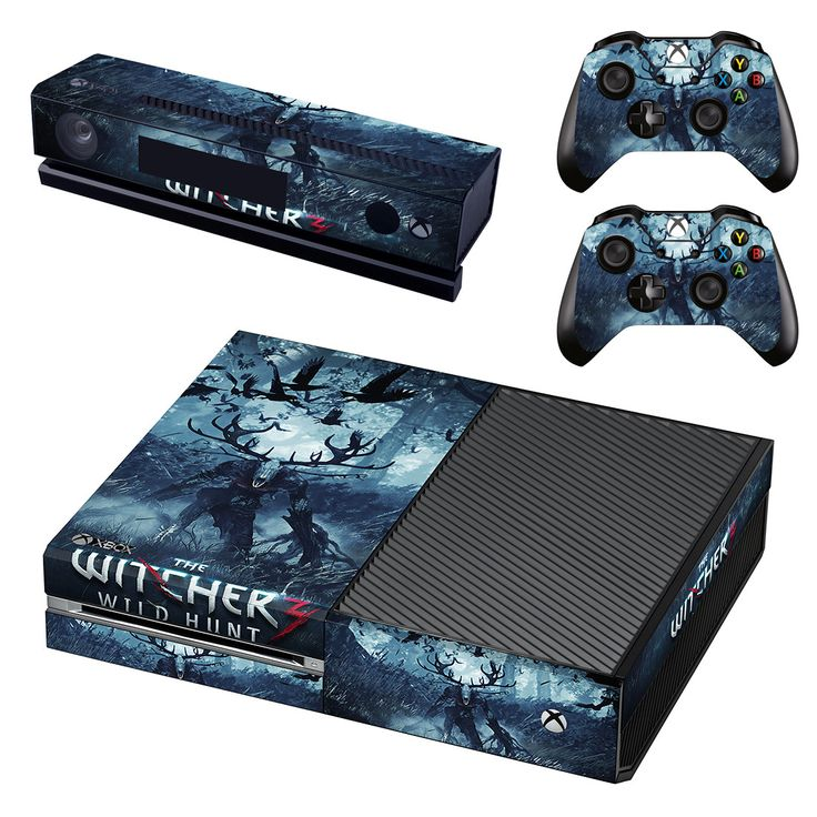 The witcher wild hunt xbox one skin decal for console and 2 controllers