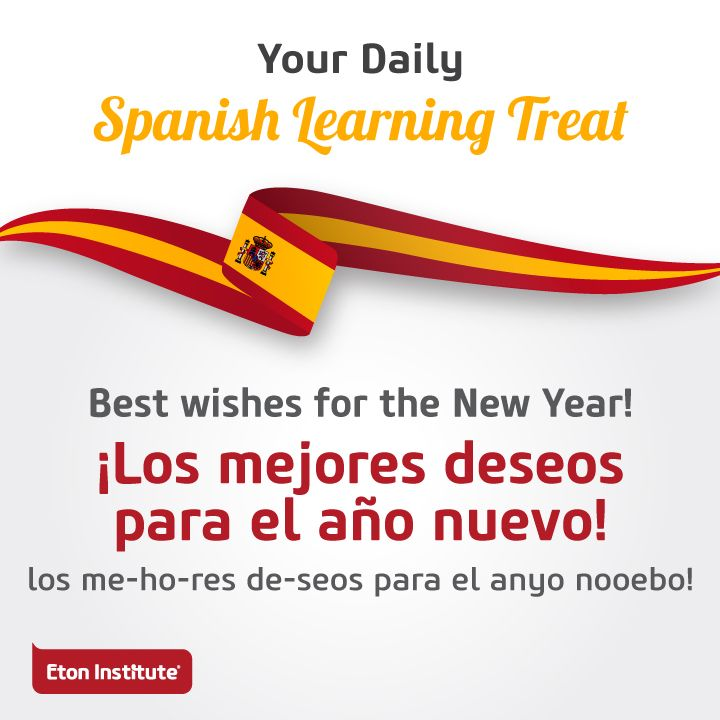Learn to say 'Best wishes for the New Year' in Spanish and share with your friends.
