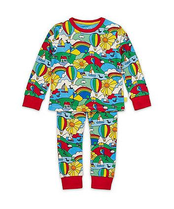 Little Bird by Jools Retro Print Pyjamas