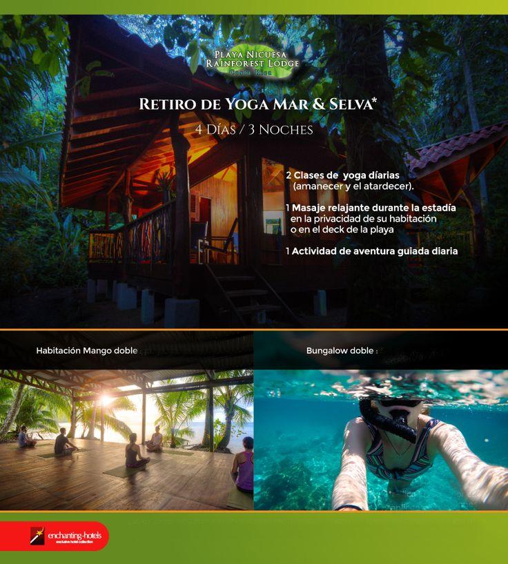 RETIRO DE YOGA MAR & SELVA en COSTA RICA   Vegetación exuberante con hojas tan grandes como orejas de elefante. Agua de color jade. Tucanes, monos, iguanas, delfines, mariposas azules majestuosas… todo está aquí en Playa Nicuesa Rainforest Lodge.  Una escapada con tu pareja o amigos inolvidable con clases de Yoga, masajes y meditación en plena naturaleza. ¿Te animas?  Más información en viajes@neargay.com  #Viajes